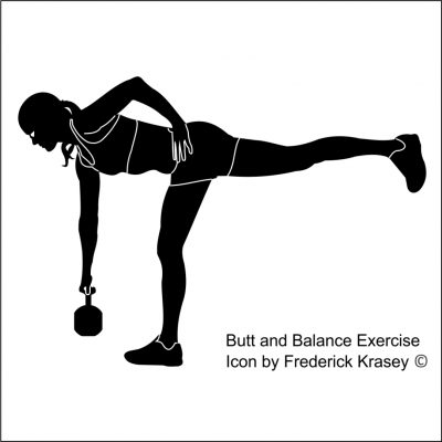 Butt and Balance Exercise Icon by Frederick Krasey 2