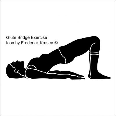 Glute Bridge Exercise Icon by Frederick Krasey 2