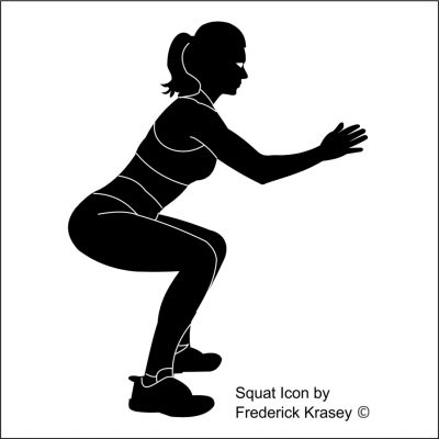 Squat Icon by Frederick Krasey 2